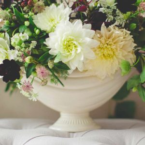 Flower arrangements broadcasted into an online video conference by Centratel's funeral home clients